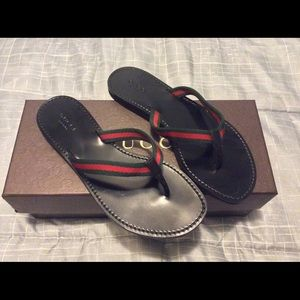 Gucci Thong Web Sandal